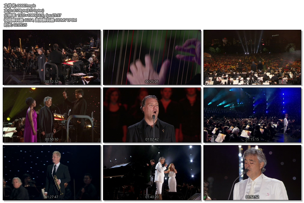 [蓝光原盘] 安德烈·波切利(Andrea Bocelli) 2011 纽约中央公园演唱会《ISO 36.3g》