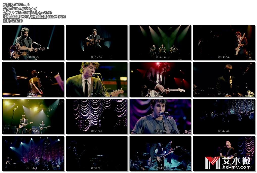 [蓝光原盘] 约翰梅尔John Mayer 洛杉矶演唱会2008《ISO 44.9G》