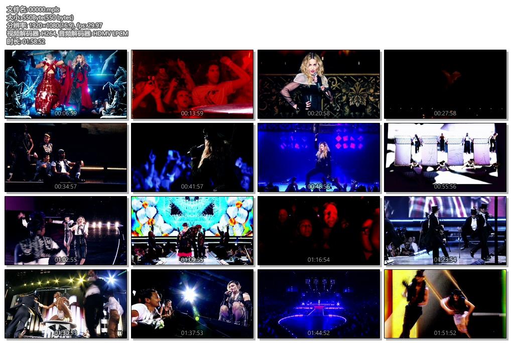 [蓝光原盘] 麦当娜-反叛之心巡回演唱会2016 《ISO格式》