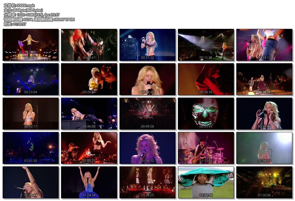 [蓝光原盘] 夏奇拉巴黎演唱会 2011 《BDMV》
