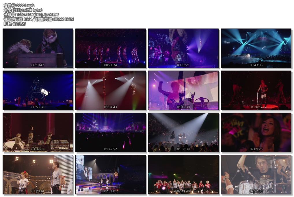 [蓝光原盘] 滨崎步摇滚马戏团2010巡回演唱会《ISO 43.4G》
