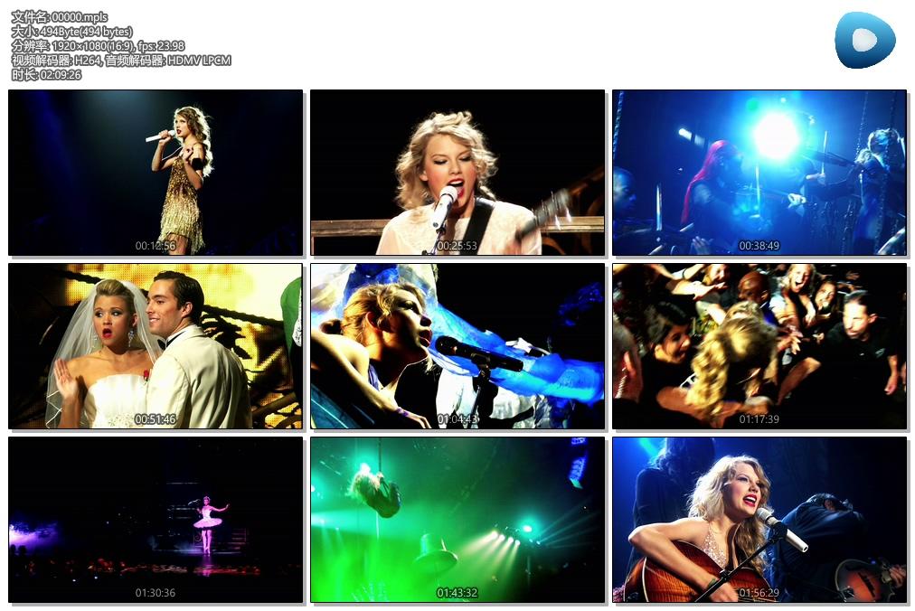 [蓝光原盘] 泰勒·斯威夫特Taylor.Swift - 爱的告白- 世界巡回演唱会 《BDMV》