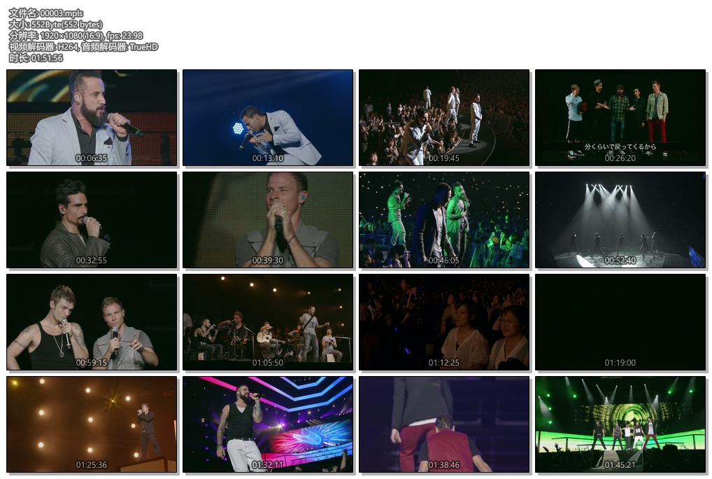 [蓝光原盘] 后街男孩 2013世界巡演 日本琦玉站《ISO双碟 44.9G》