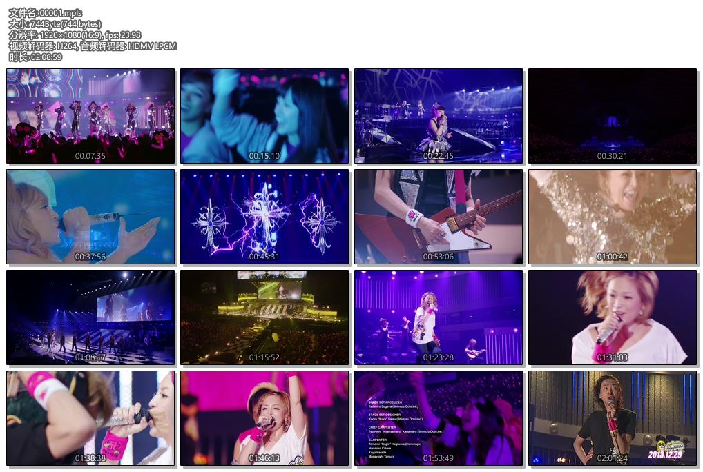 [蓝光原盘] 滨崎步2013-2014跨年演唱会 《ISO 37.5G》