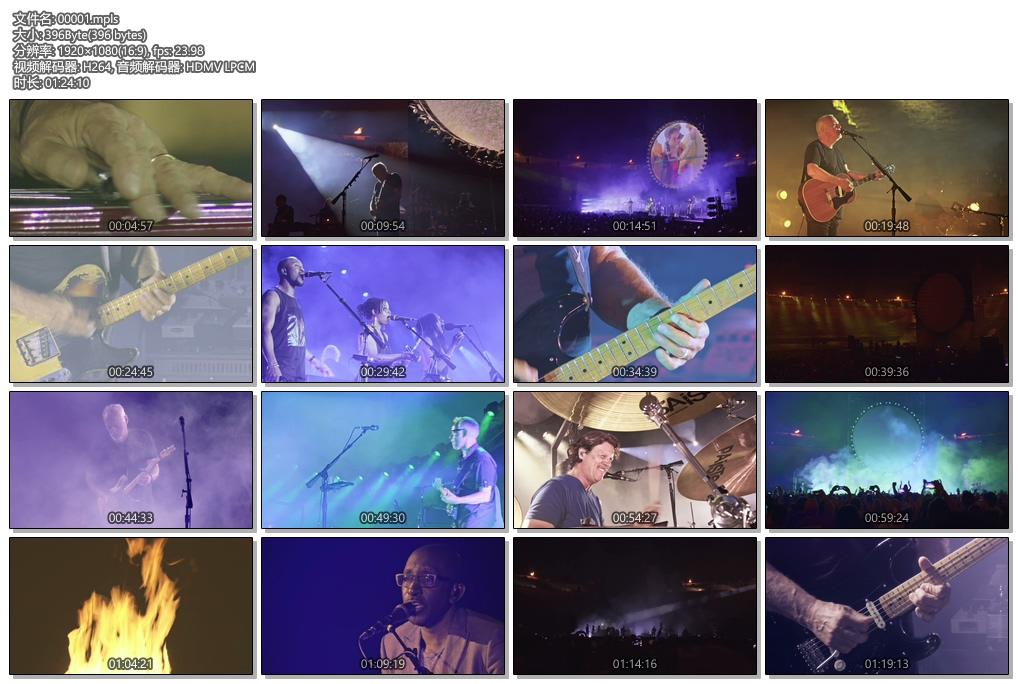 [蓝光原盘] 大卫·吉尔摩(David Gilmour)庞贝演唱会2017《BDMV双碟 77.9G》