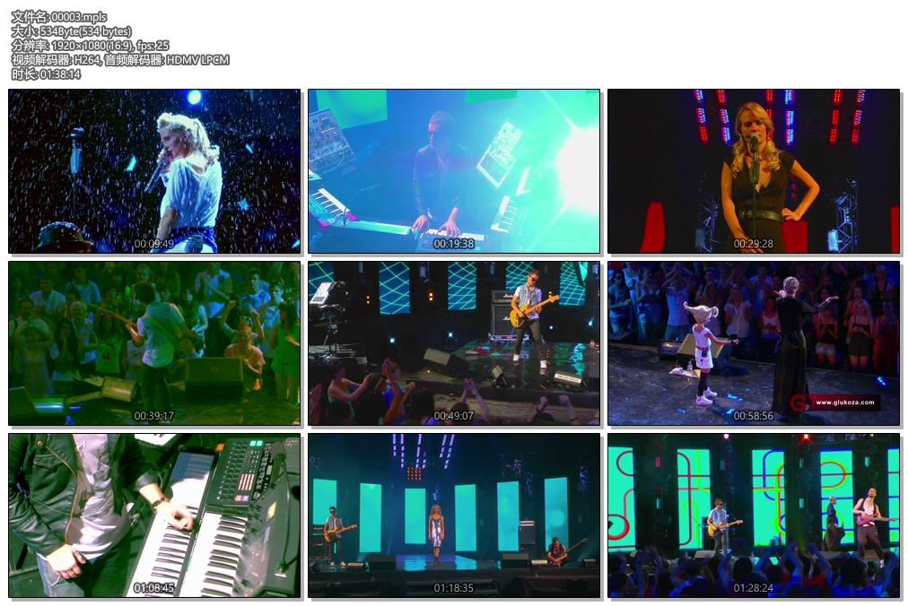 [蓝光原盘] 俄罗斯美女Glyukoza NowBoy演唱会2011(2D+3D《44.5g》)