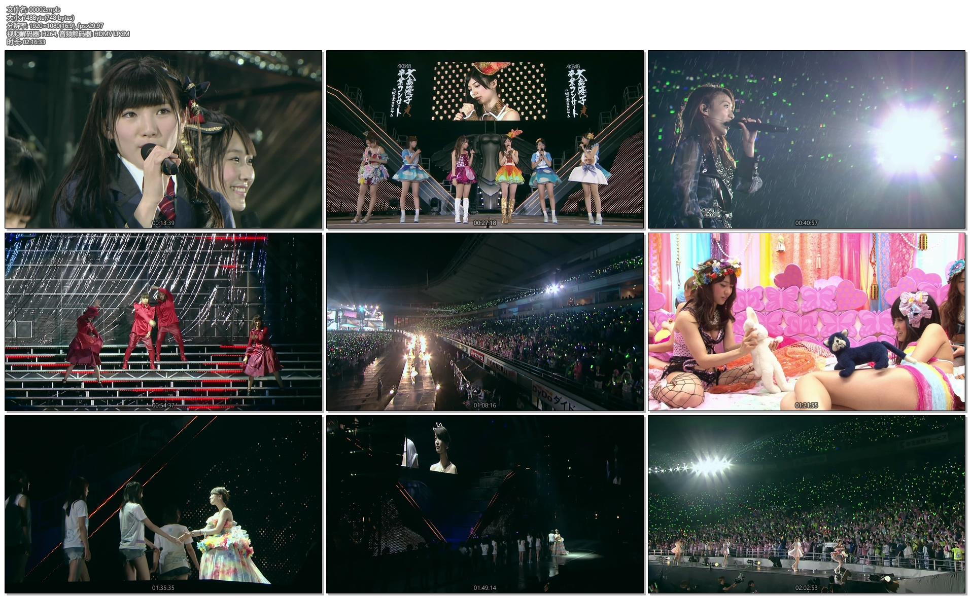 [蓝光原盘] AKB48 大岛优子毕业演唱会《BDMV 6碟 198G》