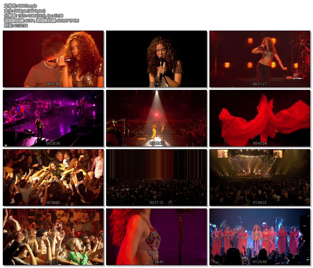 拉丁天后 夏奇拉 Shakira Oral Fixation Tour 巡回演唱会《ISO 27.7G》蓝光原盘插图(2)