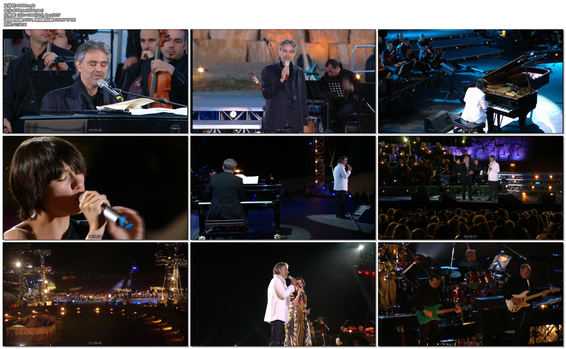 [蓝光原盘] 安德烈.波切利Andrea Bocelli – Vivere – Live in Tuscany 2008演唱会《ISO 21.47G》插图(3)