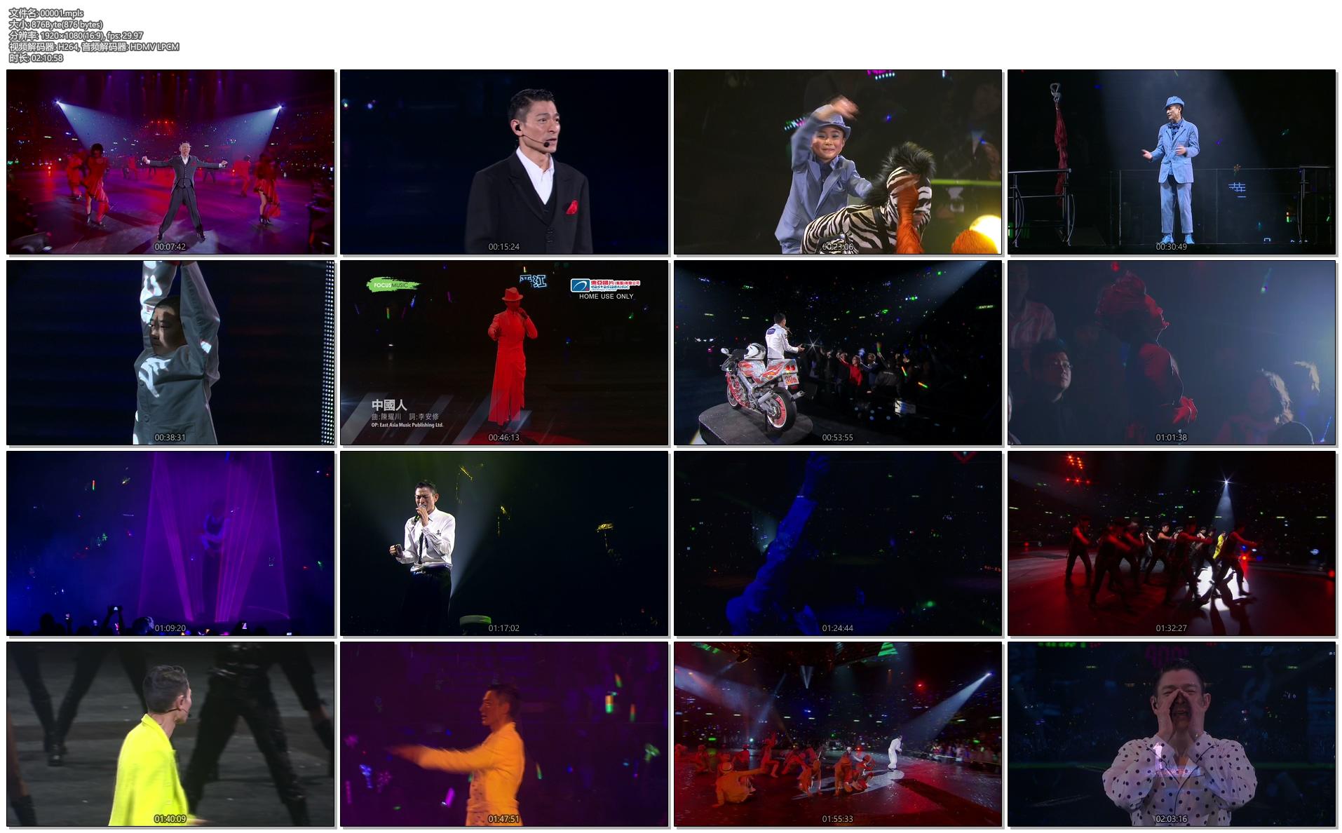 [蓝光原盘] 刘德华 震撼红馆跨年演唱会 Unforgettable Concert 2010《BDMV 43.08G》插图(2)