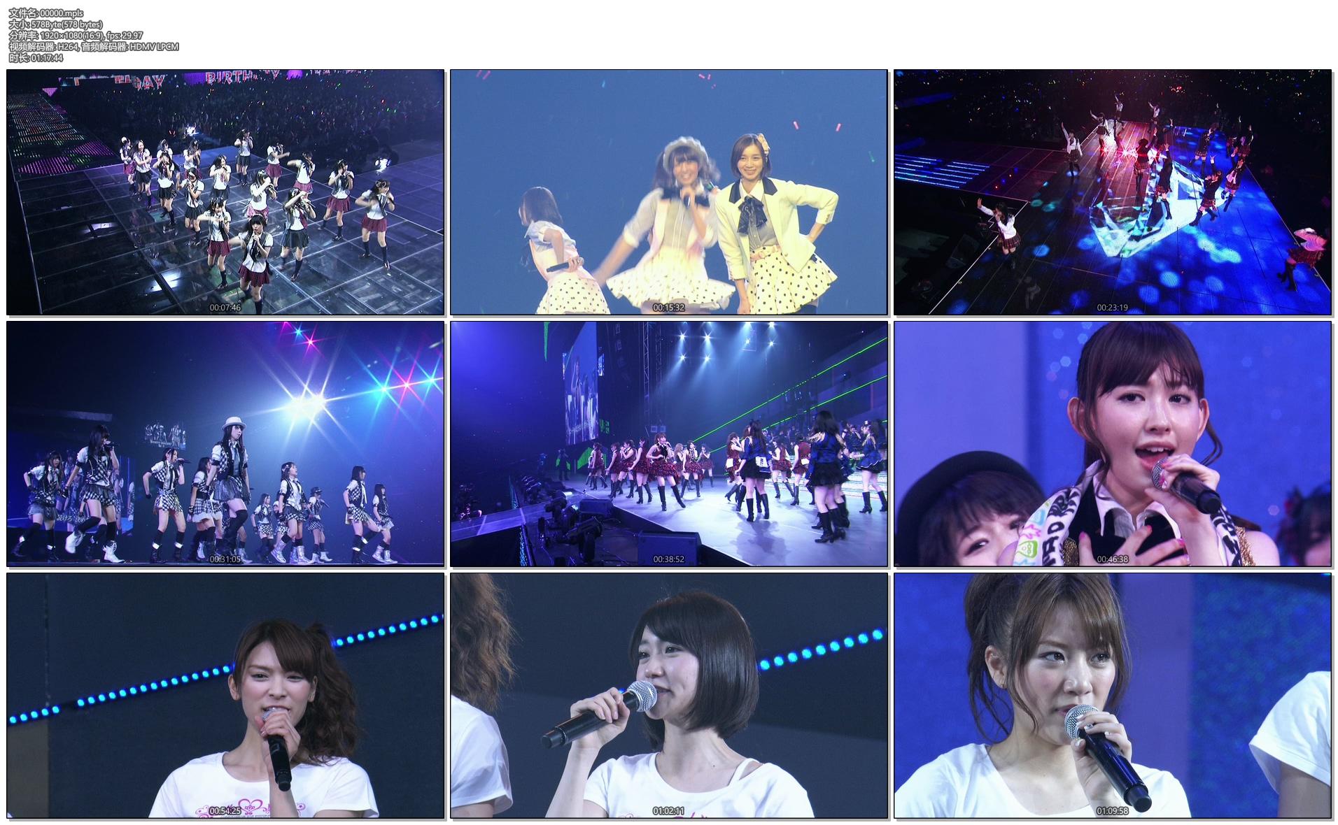 [蓝光原盘] AKB48 前田敦子 毕业演唱会《BDMV 187G》