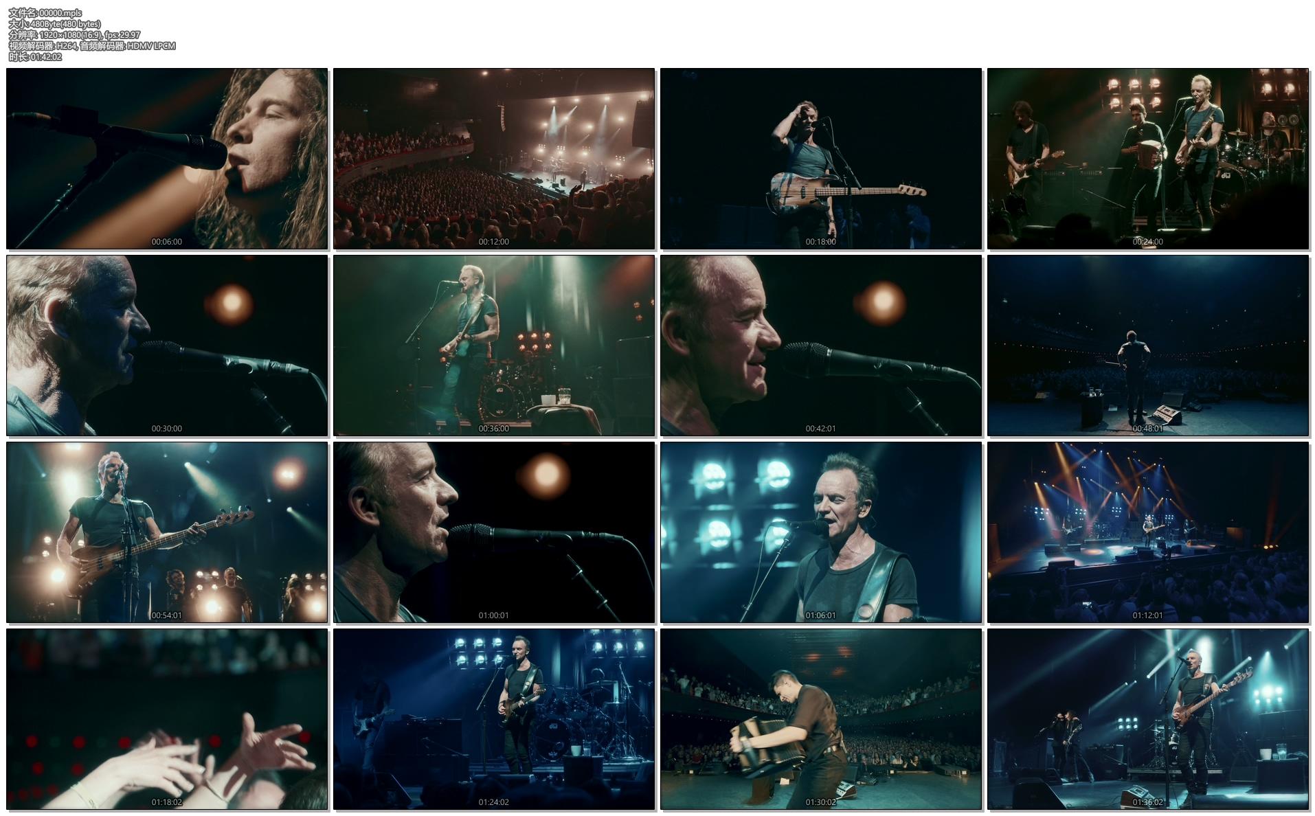 [蓝光原盘] 斯汀 2017巴黎奥林匹亚音乐厅演唱会实录Sting Live at the Olympia Paris 2017《 ISO 35.8G》插图(1)