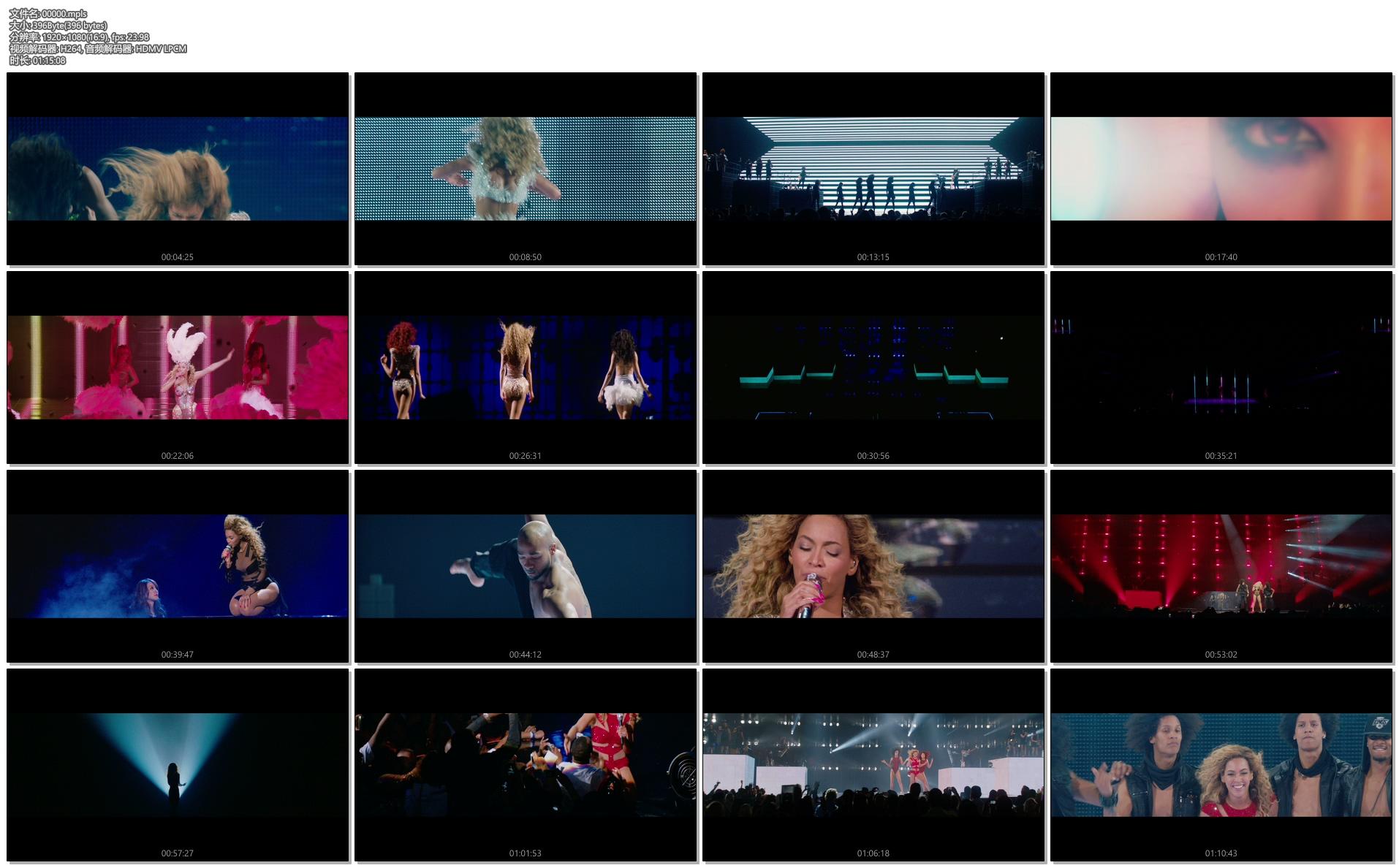 [蓝光原盘] 碧昂丝Beyoncé 2013星途梦旅+大西洋城演唱会《ISO 双碟 39.17G》插图(3)