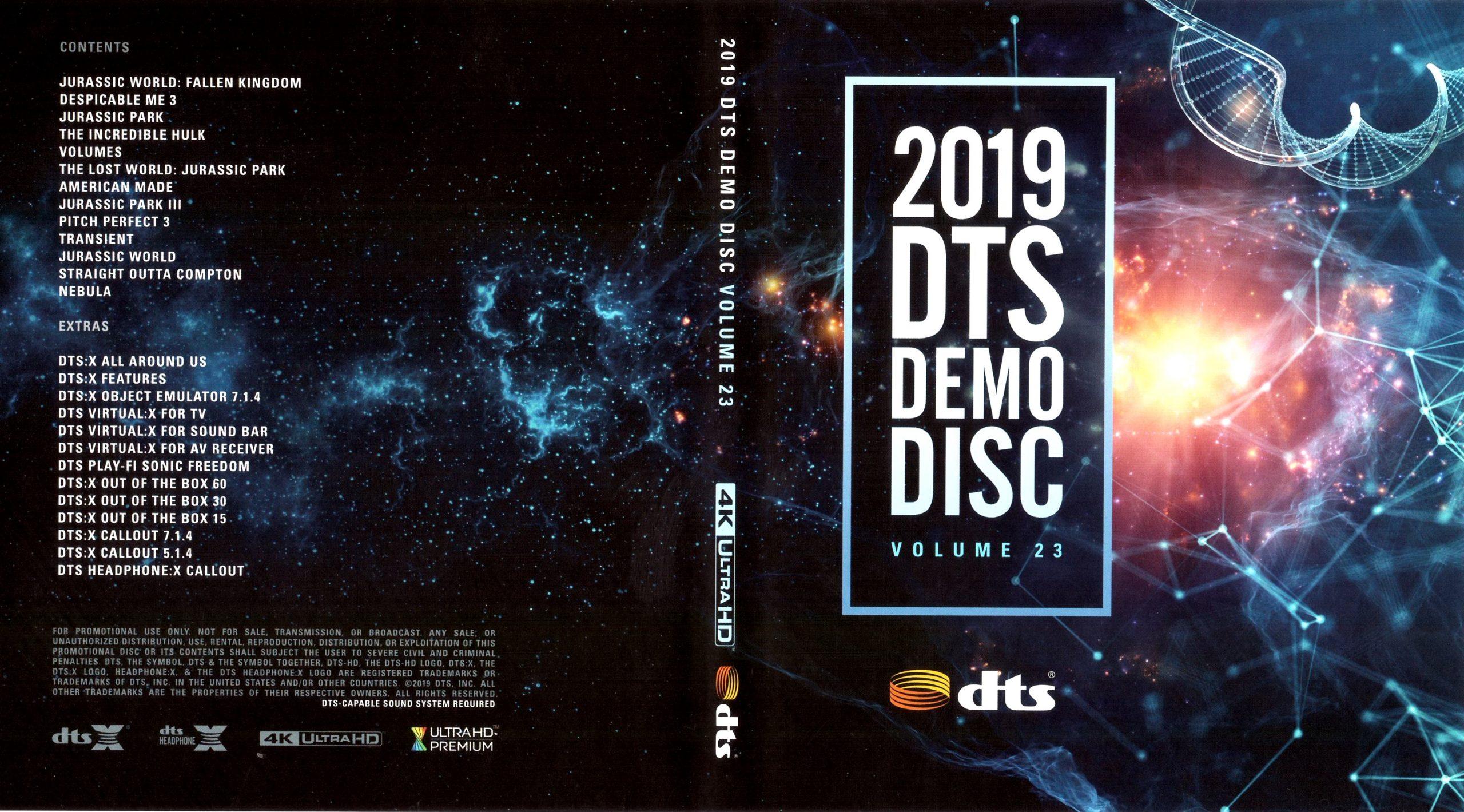 DTS蓝光演示碟 2019 4K UHD DTS Demo Disc Vol.23 H.265 HDR 4KUltraHD DTS-X 7.1