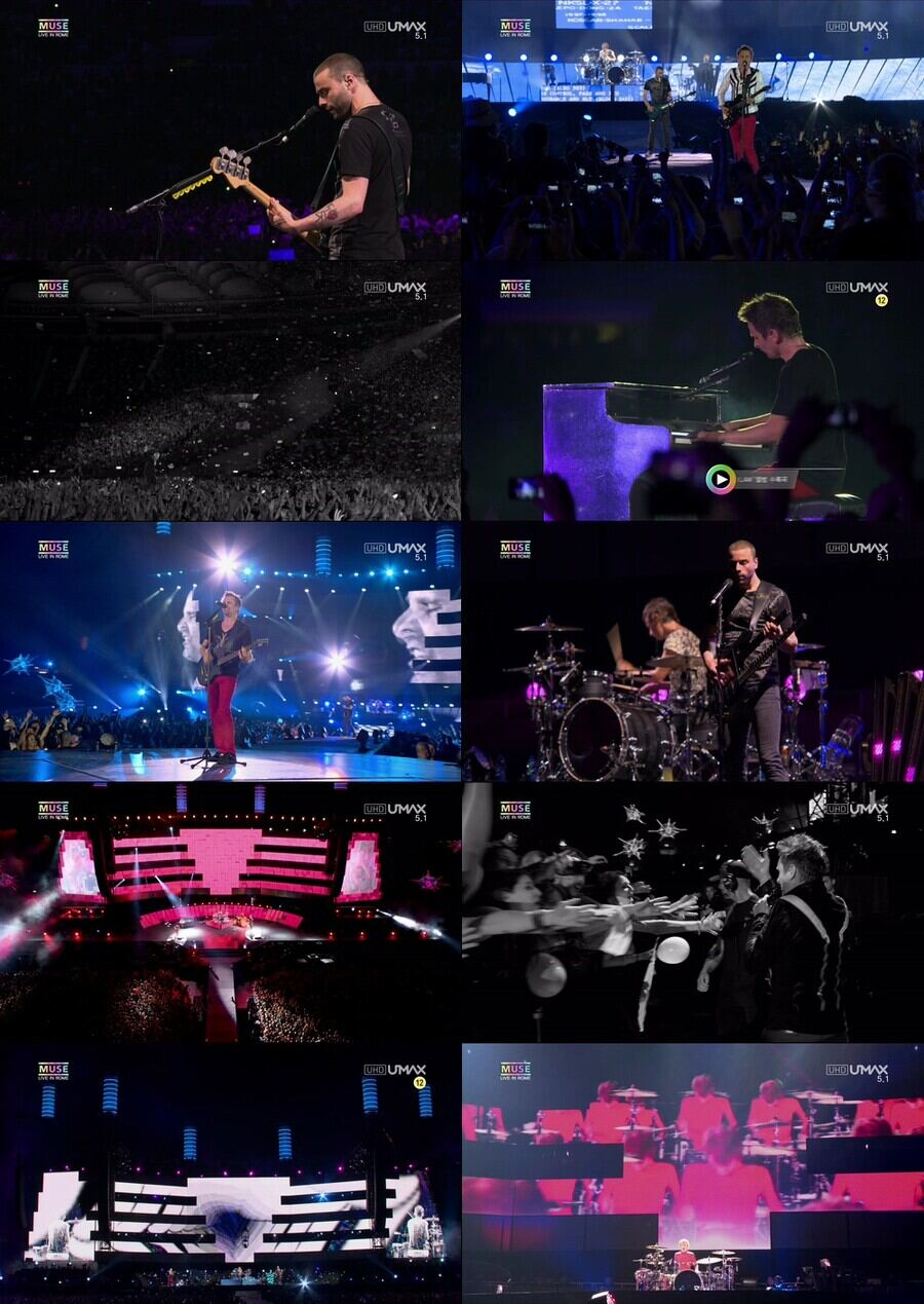 Muse - Live At Rome Olympic Stadium 2013 (4K) (3)